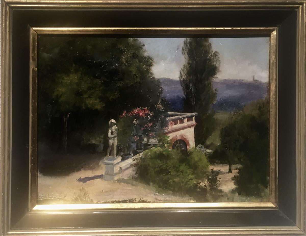 Dans un PARC - Emile WEGELIN (1875-1962)