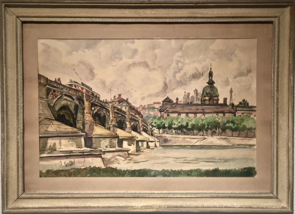 Pont de la GUILLOTIERE Lyon - Jean Baptiste GRAFFET (1903-1954)