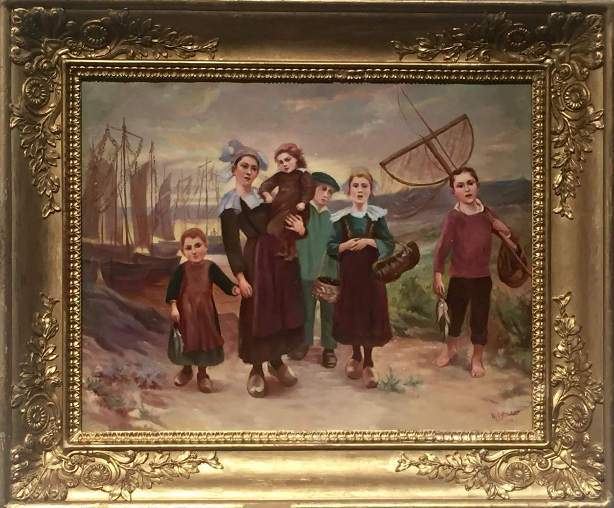 LA FAMILLE DU PECHEUR 1912 - M. A. POINTET (XIX/XXème)