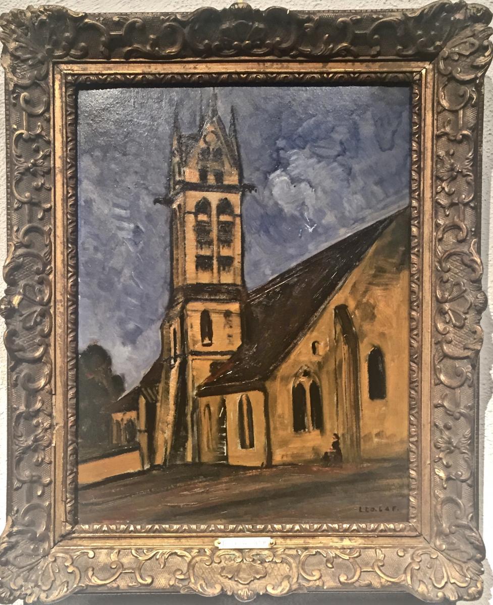 Léon LA FOURCADE (1898-1979) - Eglise d'Heriey