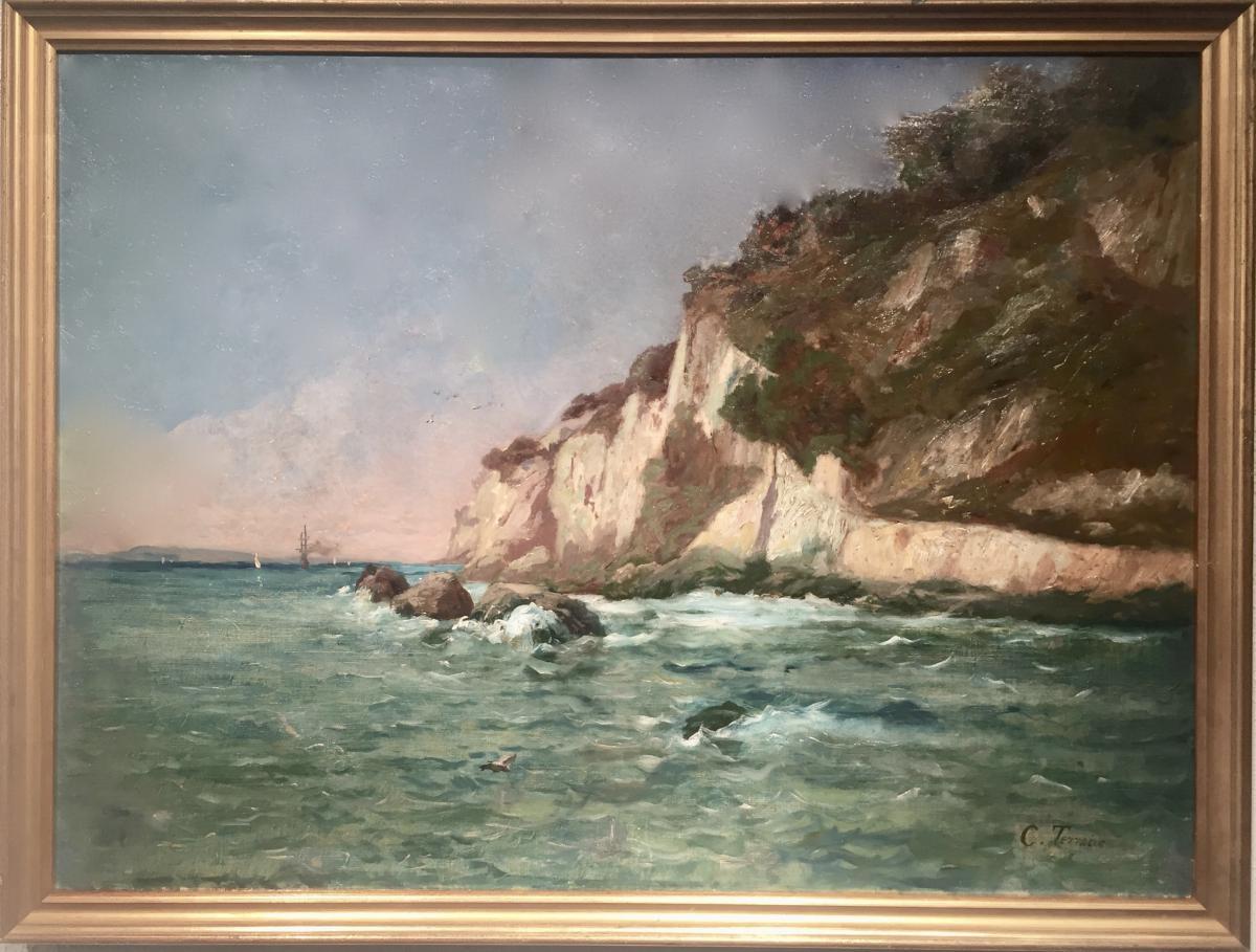 CALANQUE de CASSIS - Clovis TERRAIRE (1858-1931)
