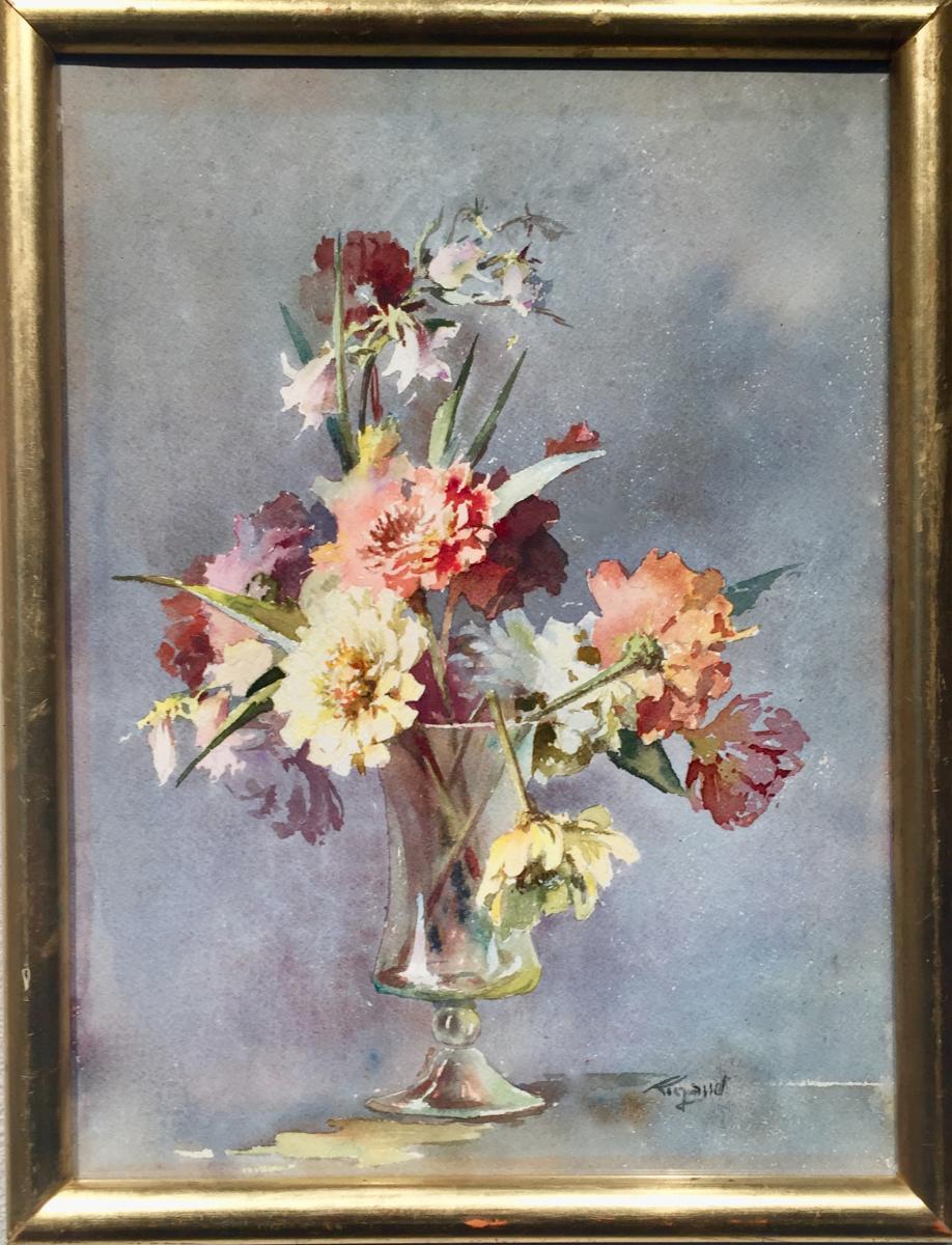 Pierre Gaston Rigaud (1874-1939) - Flowers In Glass Vase