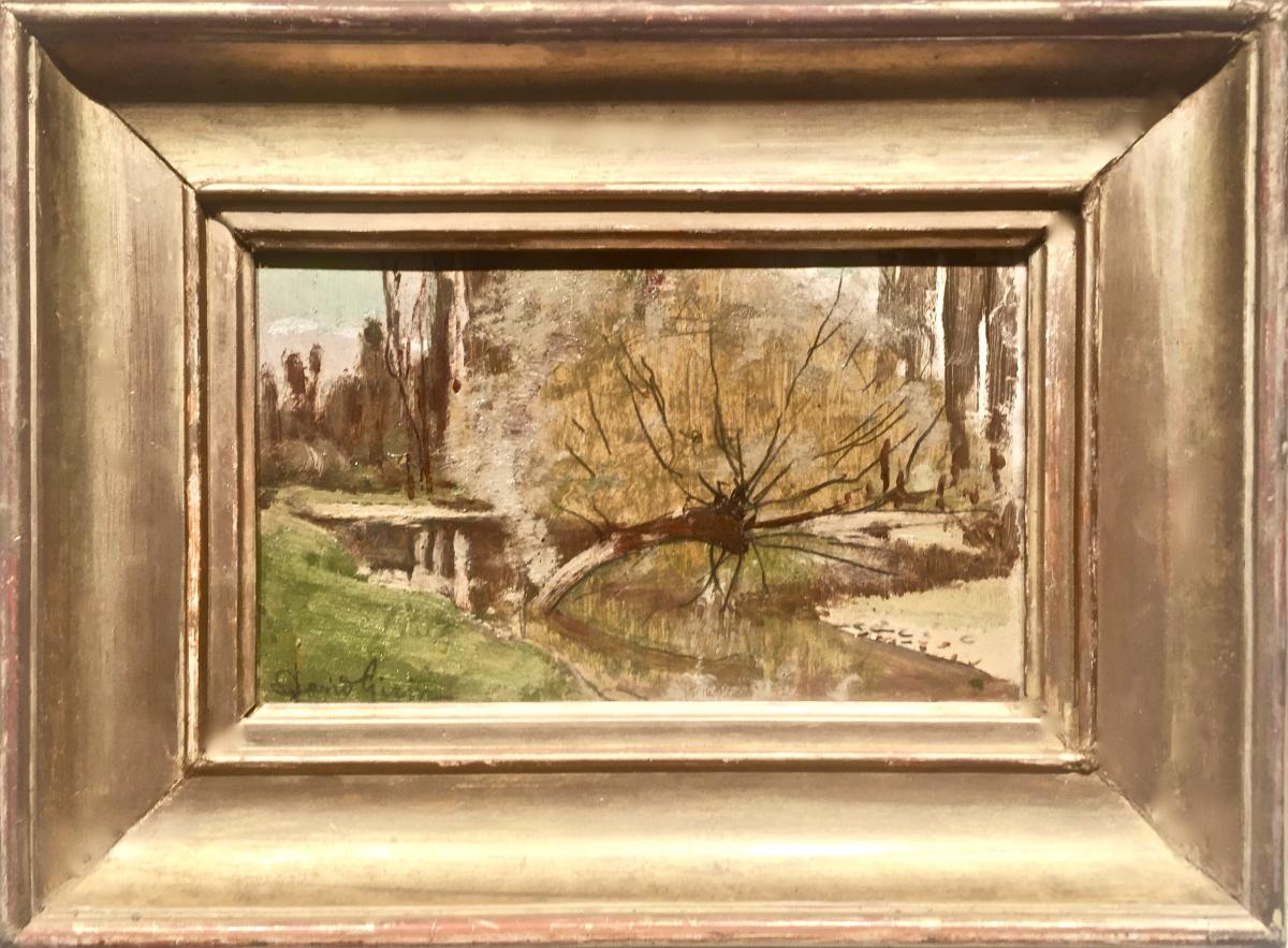 David GIRIN (1848-1917) - LE VIEUX SAULE