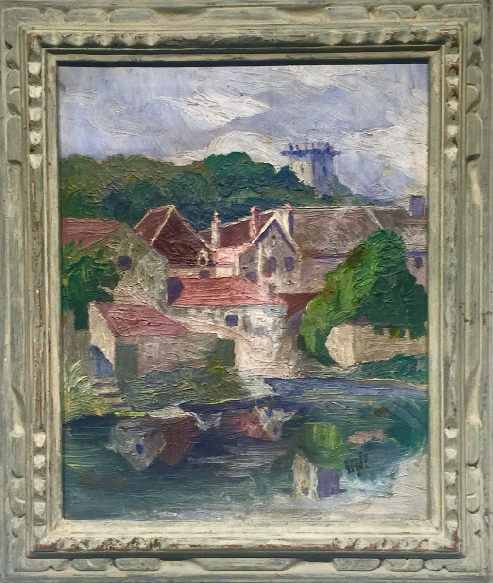 Roger Rouffiange (20th Century) - Reflections Of The Seine