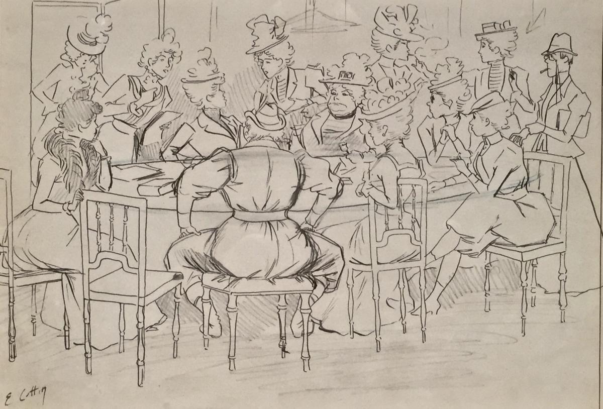 Les SUFFRAGETTES - Eugène COTTIN (1841-1902)