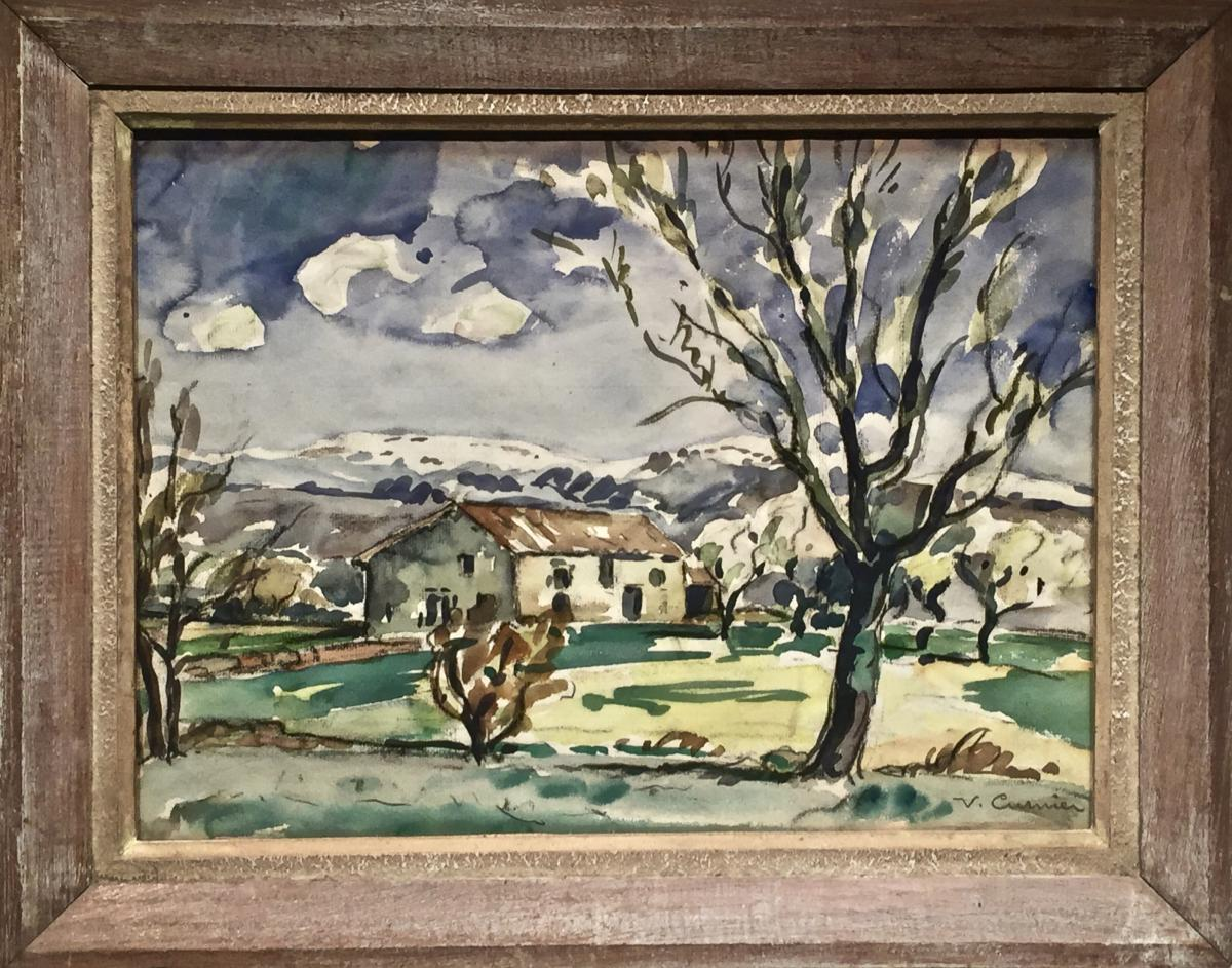 Venance CURNIER(1885-1971) - Ferme dans les Monts du Lyonnais