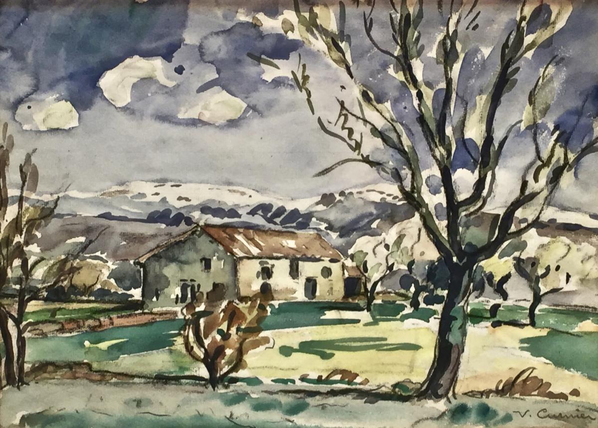 Venance CURNIER(1885-1971) - Ferme dans les Monts du Lyonnais-photo-2