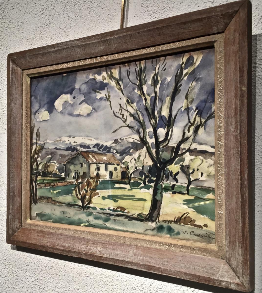 Venance CURNIER(1885-1971) - Ferme dans les Monts du Lyonnais-photo-4