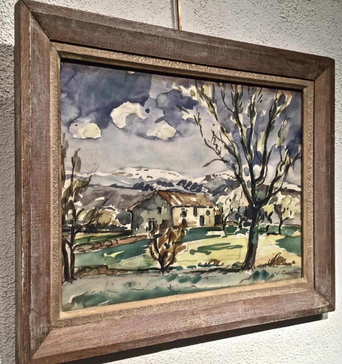 Venance CURNIER(1885-1971) - Ferme dans les Monts du Lyonnais-photo-1