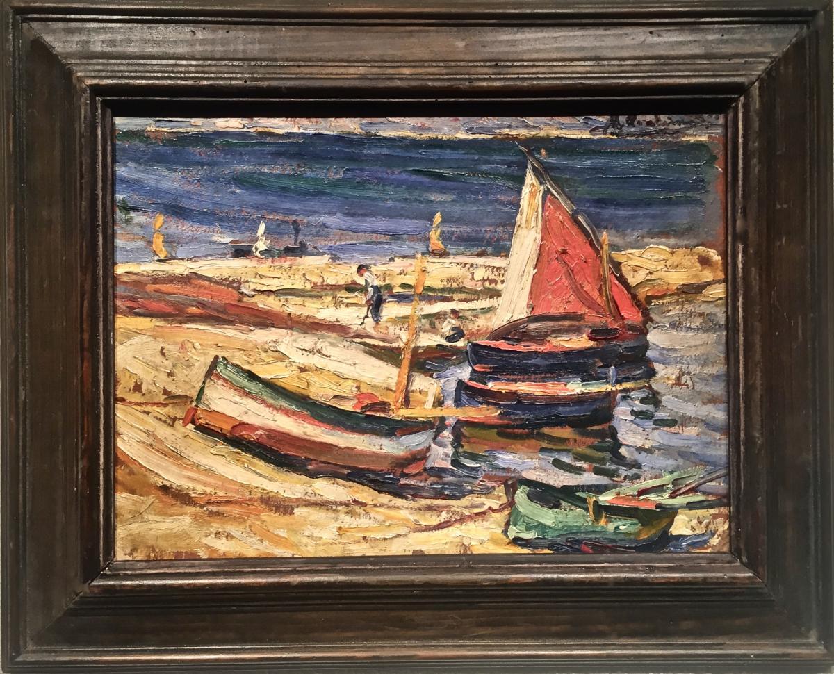 SAINT TROPEZ 1925 - Henri FONTAINE (1887-1956)