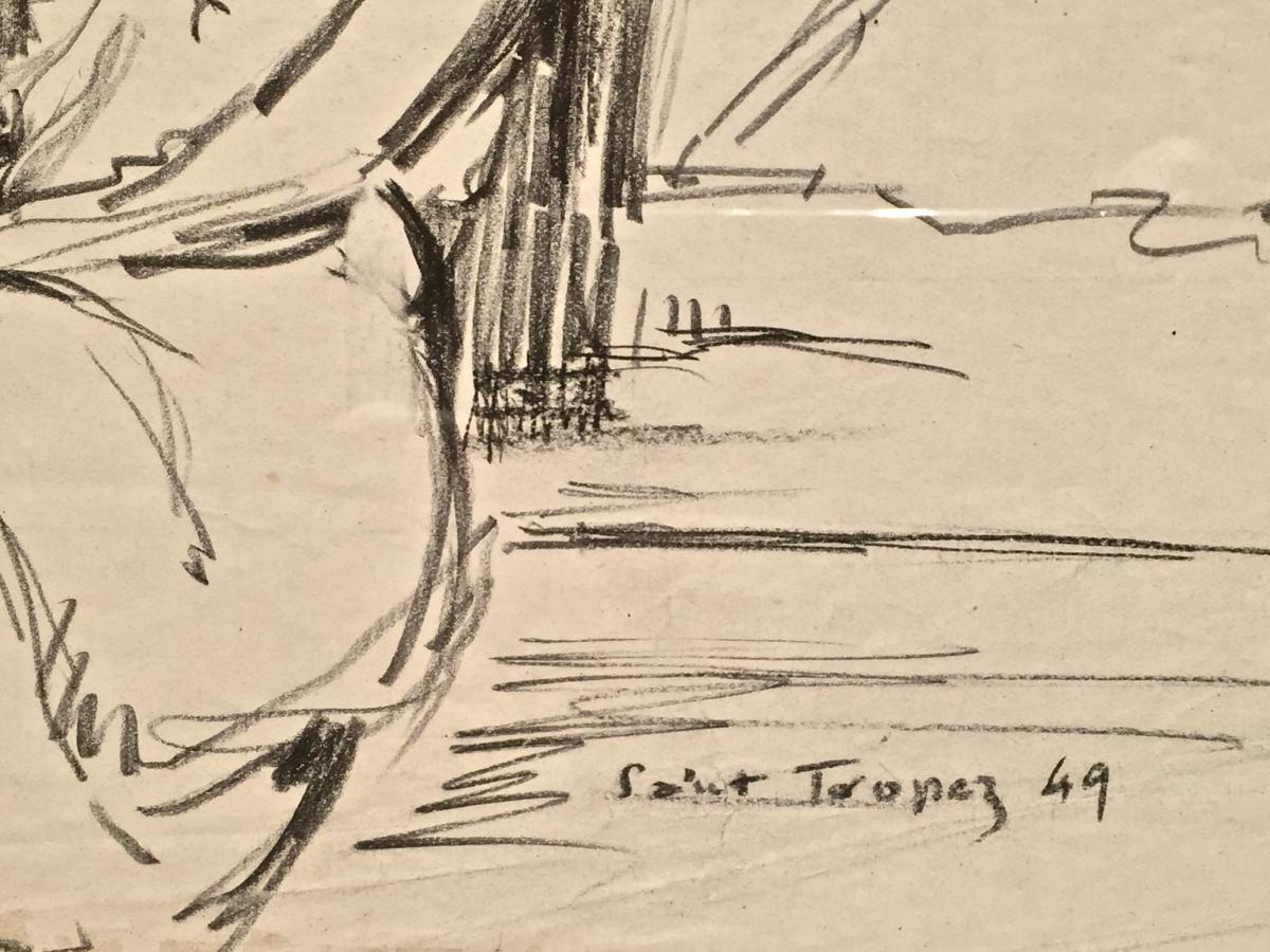 Saint Tropez 1949 - Henri Fontaine (1887-1956)-photo-3