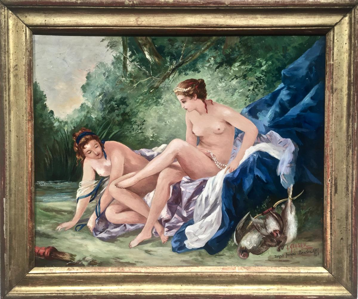 Diane Coming Out Of The Bath - After François Boucher (1703-1770)
