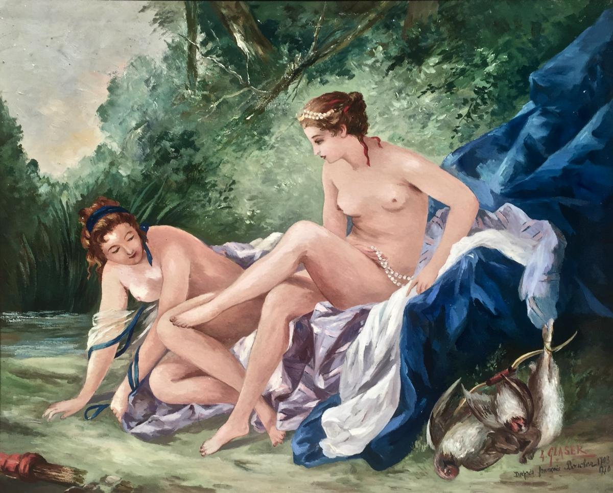 Diane Coming Out Of The Bath - After François Boucher (1703-1770)-photo-2