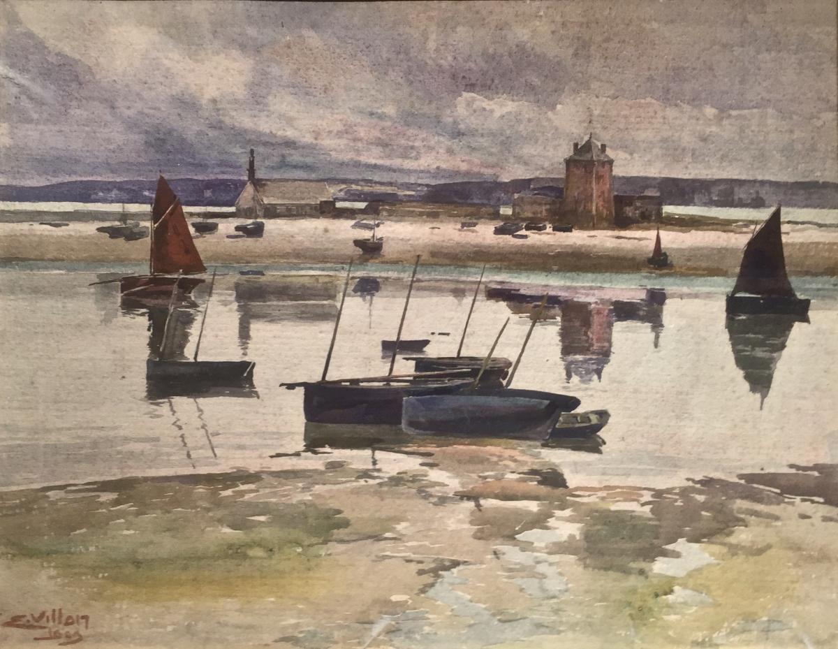 Le port de CAMARET - Eugène VILLON