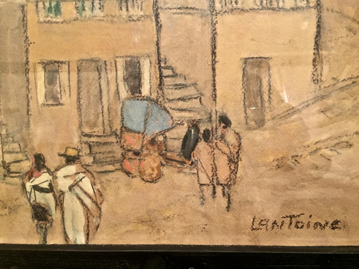Fernand LANTOINE (1876-1953) - GARDIEN de ZEBUS-photo-1