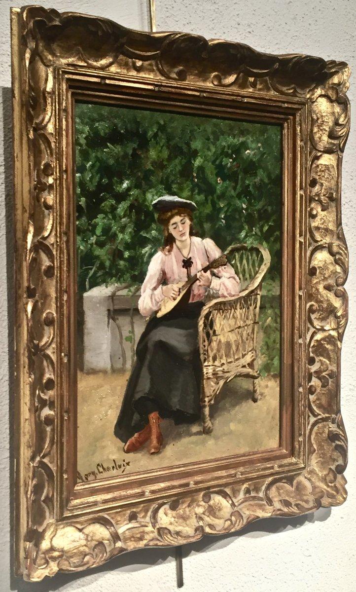 Marguerite Frédérique CHARLAIX (1883-1939)  - JEUNE FILLE à la MANDOLINE
