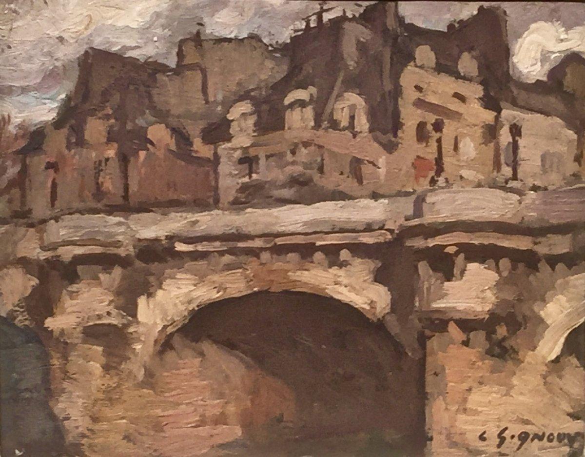Paris - The New Bridge - Ludovic Gignoux (1882-?)