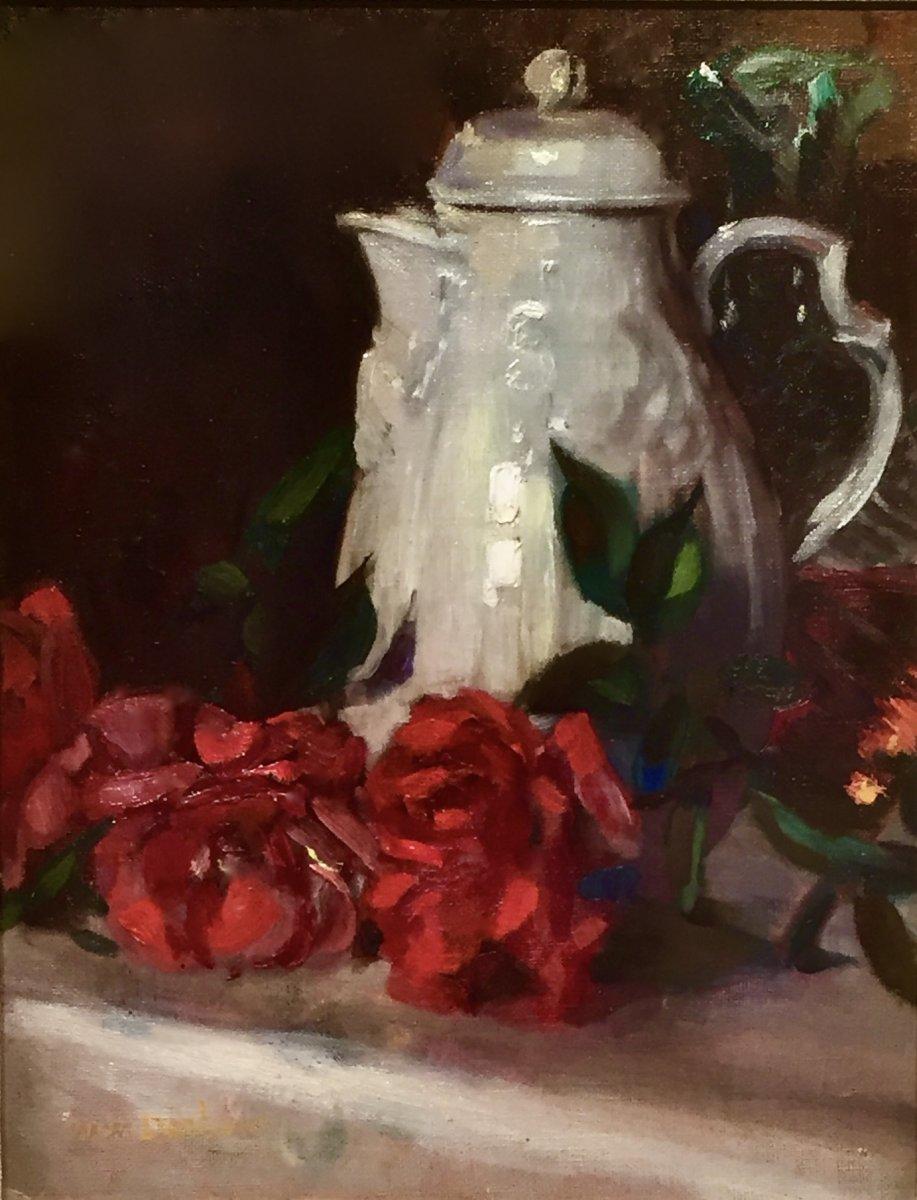 Marguerite Mary DARBOUR (XIX/XXème) - JETEE de ROSES