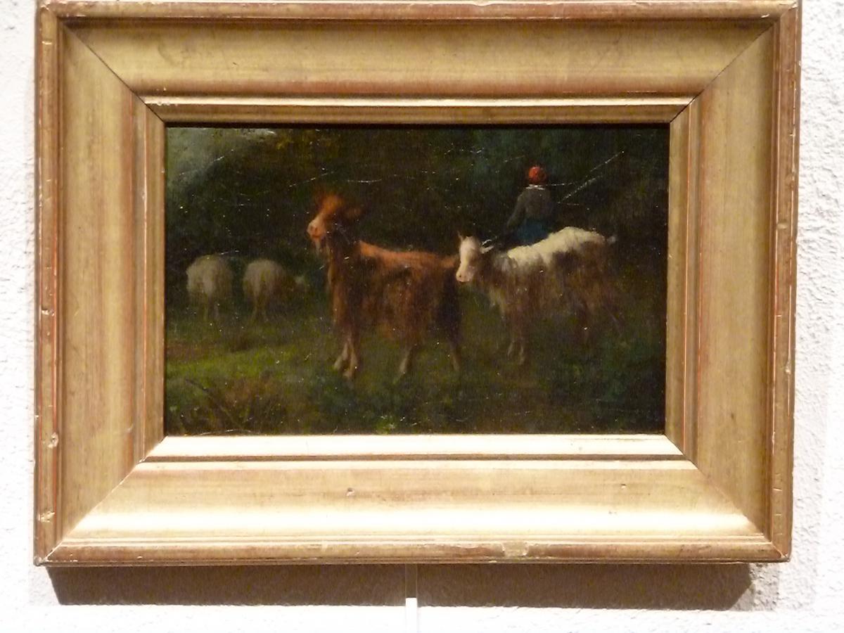 Chèvres au pré - Ecole Lyonnaise fin XIXème