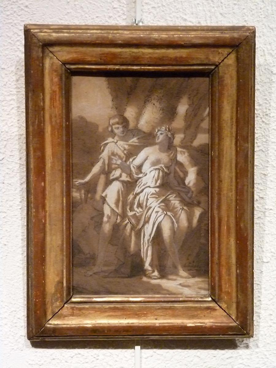 Scène Mythologique - Dessin début XIXème