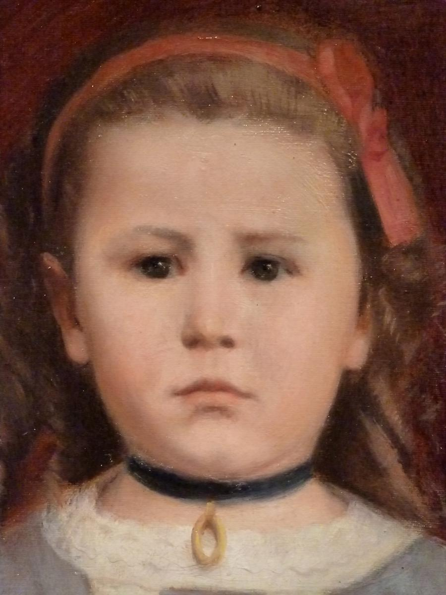 Young Oriental Girl By Leon Raoul Lanternier