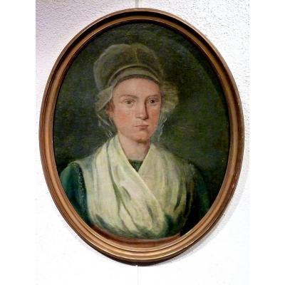 Jeune femme portrait XVIIIème REVOLUTION