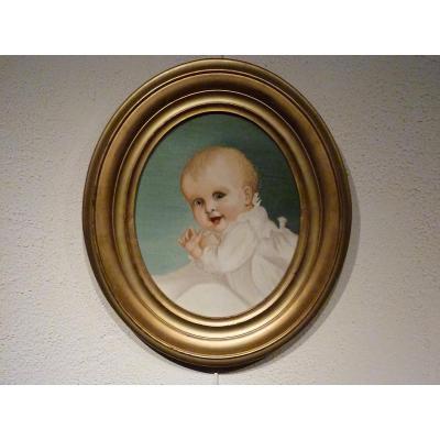 Bébé portrait XIXème non signé
