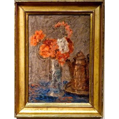 Fleurs dans un vase par FRANCOIS ALEXANDRE BONNARDEL (1867-1942)