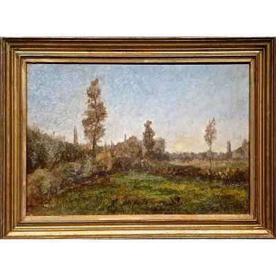 Paysage - Ecole Lyonnaise fin XIXème - Non signée