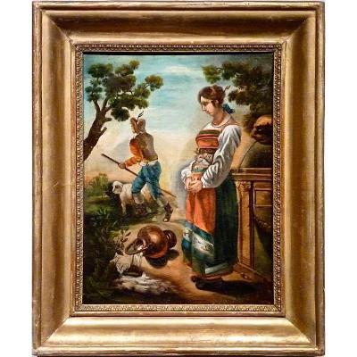 Scène bucolique - Tyrol Suisse - Vers 1840