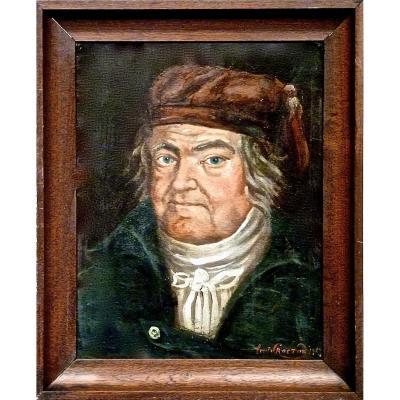 Portrait au bonnet par Louis ROCTON en 1814