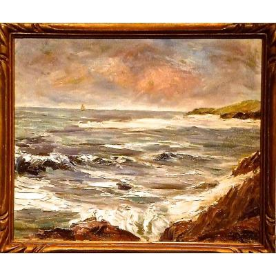 Sea Side; Waves Signed Bieler 37