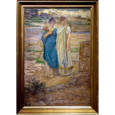 Henri Georges CHARRIER (1859-1950) -  La Visitation