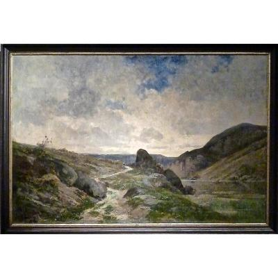 Chemin après l'orage par Armand Auguste BALOUZET (1858-1905)