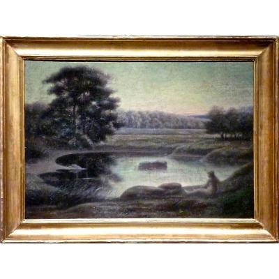 La baigneuse de Fernand MITIFIOT de BELAIR (I849-1928)