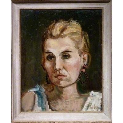 """""""FEMME DES ANNEES 70"""" par Paul HUBAY (1930-1984)"""