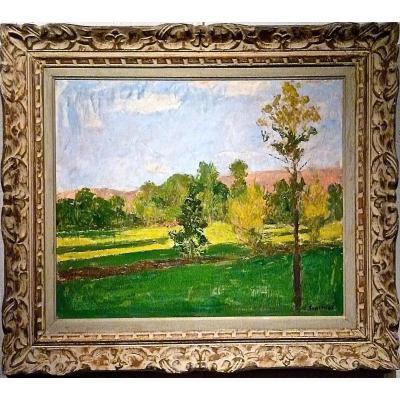 """""""LA MONTAGNE ROSE"""" par Edmond TAPISSIER (1861-1943)"""