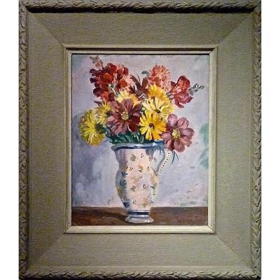 Fleurs dans un vase par Jean Eugène BERSIER (1895-1978)