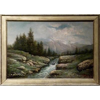 Le torrent par Jean BAIN (XIX-XXème)