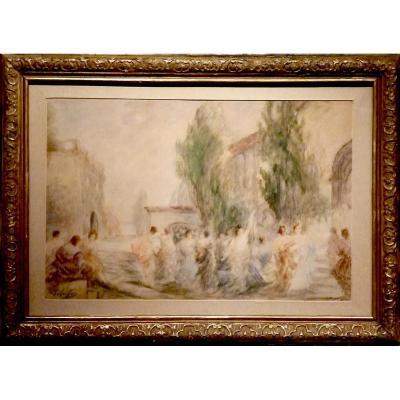 PAYS BASQUE en fête par Gabriel GRIFFON (1866-1938)