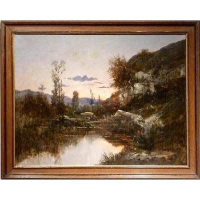 OPTEVOZ: le crépuscule par Jean BAIN (XIX-XXème)
