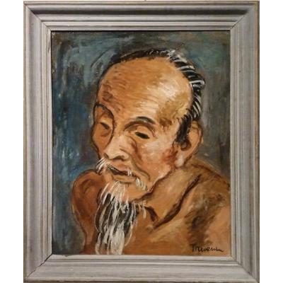 PAYSAN CHINOIS  par Pierre THEVENIN (1905- 1950)