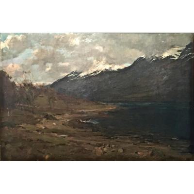 BEN NEVIS 1344 m daté 1898 par Allan STEWART (1865-1951)