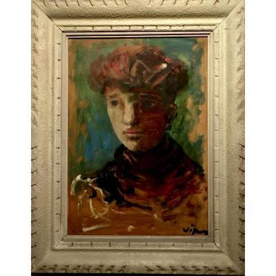 La FEMME aux CHEVEUX ROUX de Sylvain VIGNY (1903-1970)