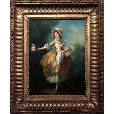 ROSES de MARIE ANTOINETTE XVIII ème non signé