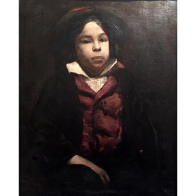 JEUNE GARCON Etude monogrammée et datée Paris 1881