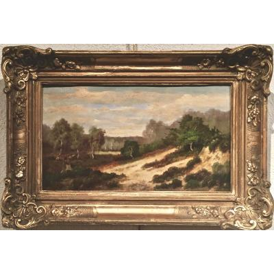 Joannès DREVET (1854-1940) Paysage peint à l'huile