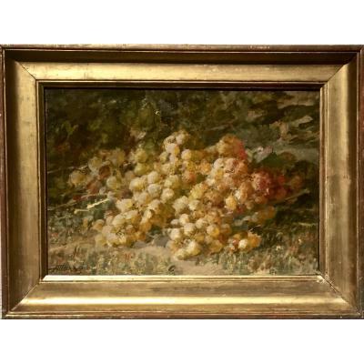 RAISINS IMPRESSIONNISTES - Antoine MARZO (1853-1946)