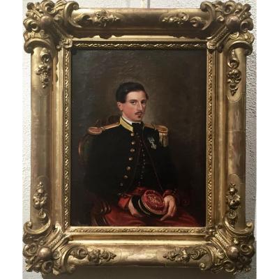 Agläé de ROSEMONT (1805-1863)- 1856 Lieutenant Marie Alexis THOMAS