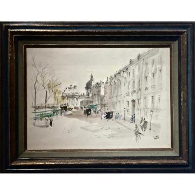Paris - QUAI MALAQUAIS -  Pierre PAGES ( né en 1933)